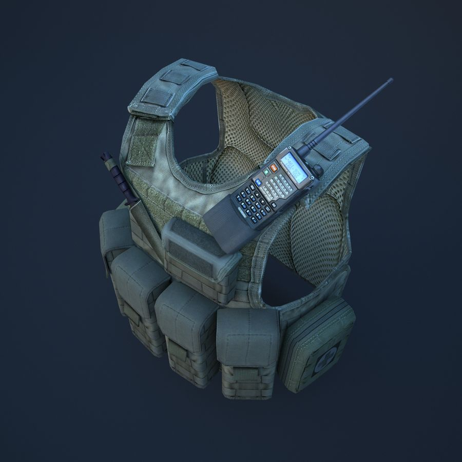 body armor royalty-free 3d model - Preview no. 6