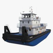 푸시 보트 선박 3d model