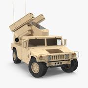 HMMWV M998 Equipped with Avenger Desert Rigged 3d model
