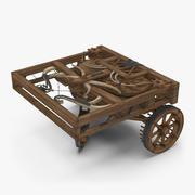 Leonardo Da Vinci Automobile opgetuigd 3d model