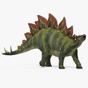 Stegosaurus Walking Pose 3D模型 3d model