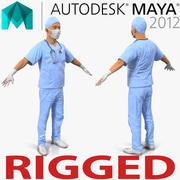 男性外科医生用血统的玛雅3D模型 3d model