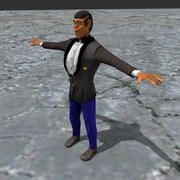 完成索具的男人 3d model