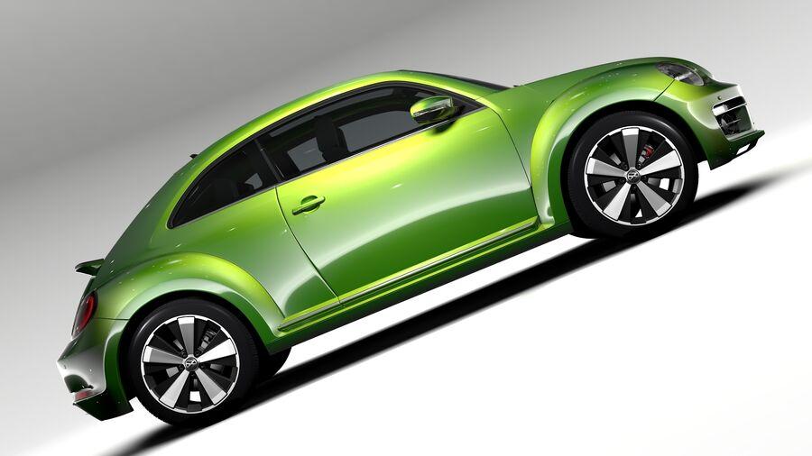 VW Beetle 2017 royalty-free 3d model - Preview no. 7