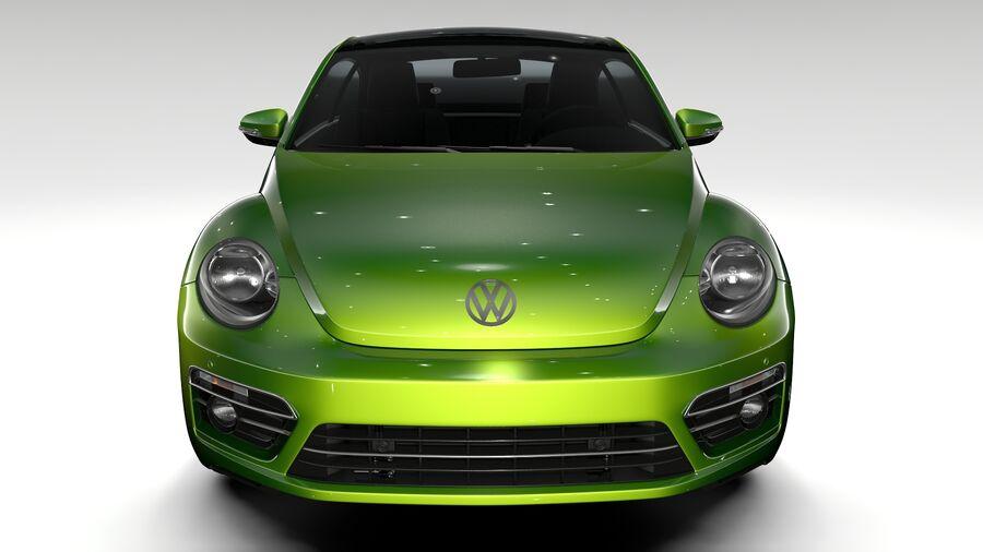 VW Beetle 2017 royalty-free 3d model - Preview no. 2