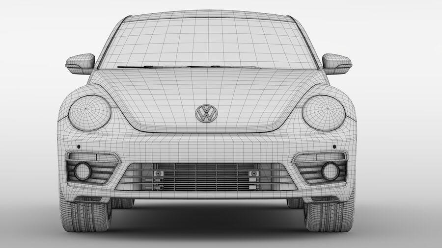 VW Beetle 2017 royalty-free 3d model - Preview no. 17