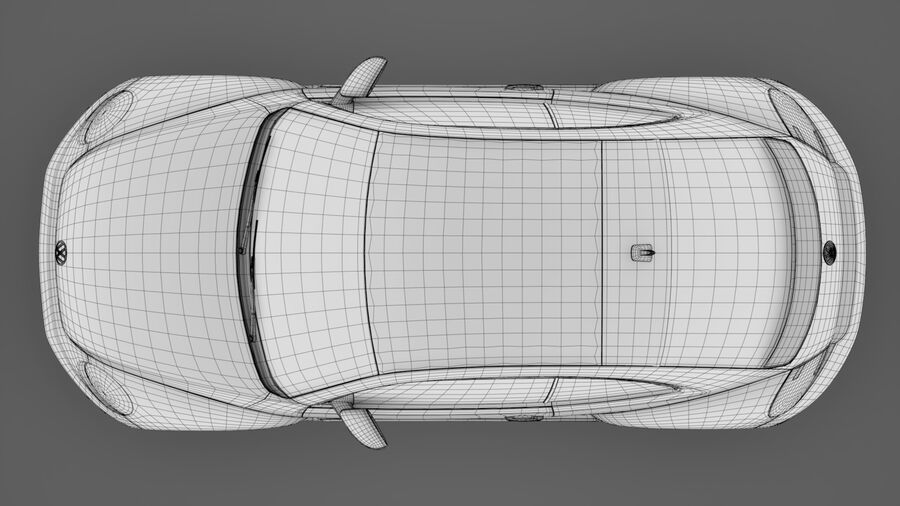 VW Beetle 2017 royalty-free 3d model - Preview no. 21