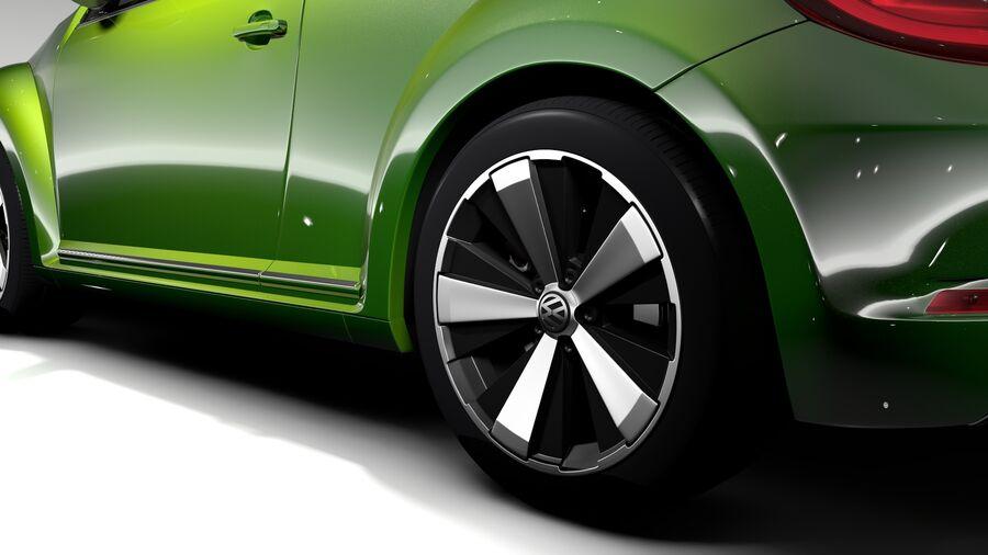 VW Beetle 2017 royalty-free 3d model - Preview no. 8