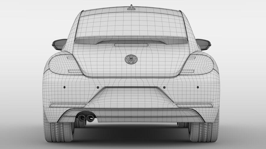 VW Beetle 2017 royalty-free 3d model - Preview no. 19