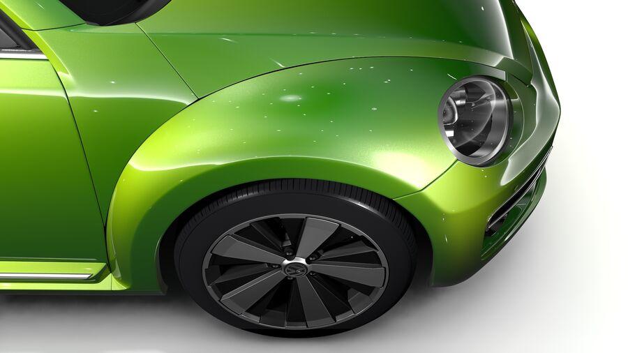 VW Beetle 2017 royalty-free 3d model - Preview no. 4