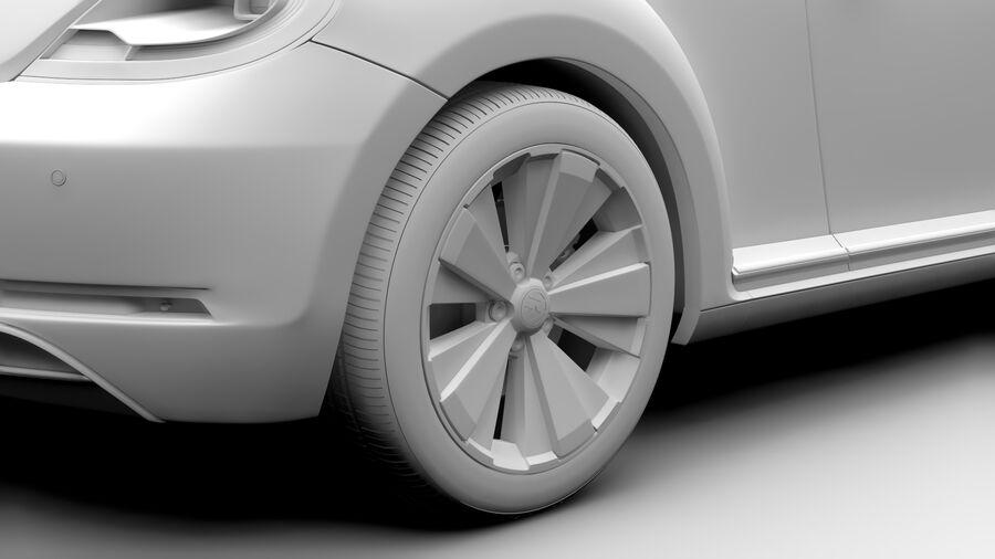 VW Beetle 2017 royalty-free 3d model - Preview no. 12