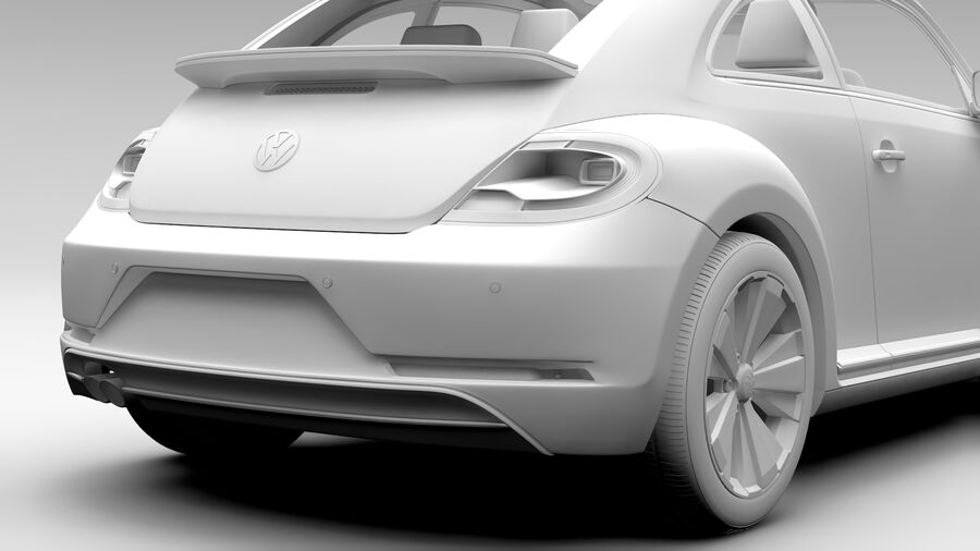 VW Beetle 2017 royalty-free 3d model - Preview no. 16