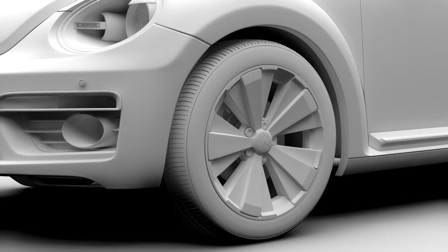 VW Beetle 2017 royalty-free 3d model - Preview no. 15