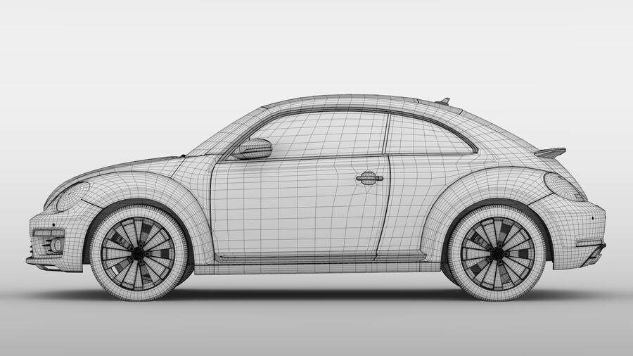 VW Beetle 2017 royalty-free 3d model - Preview no. 20