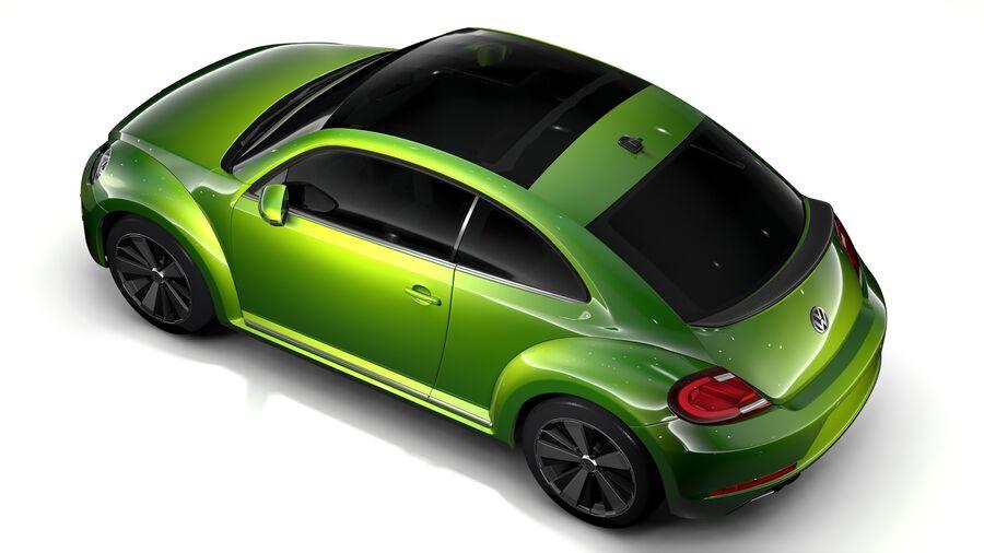 VW Beetle 2017 royalty-free 3d model - Preview no. 9