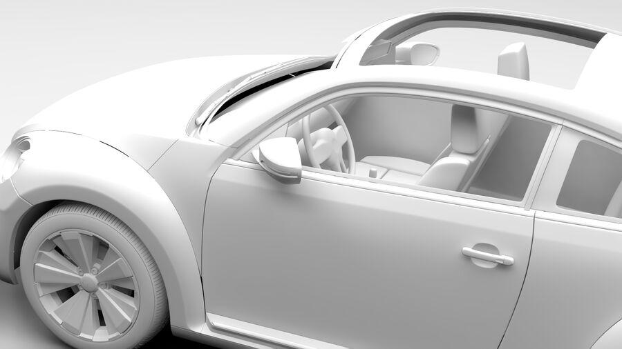 VW Beetle 2017 royalty-free 3d model - Preview no. 14