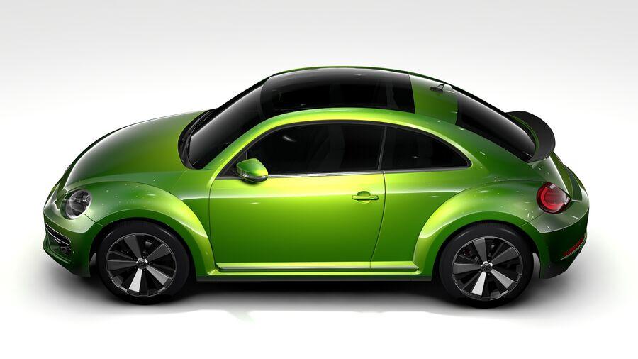VW Beetle 2017 royalty-free 3d model - Preview no. 11