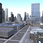 시티 블록 3d model