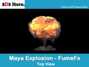 Maya FumeFx 폭발 3d model