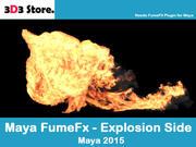 Maya FumeFx 측면 폭발 3d model