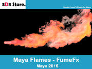 Maya FumeFx Flame Thrower 3d model