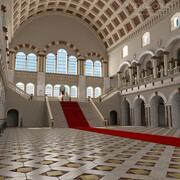 Marmoreal Castle, wnętrze 3d model