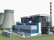 燃煤电站 3d model