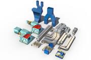 conjunto interior de la central eléctrica modelo 3d