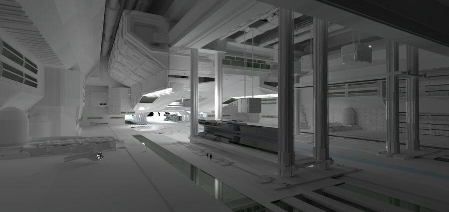 Hangar Bay royalty-free 3d model - Preview no. 1