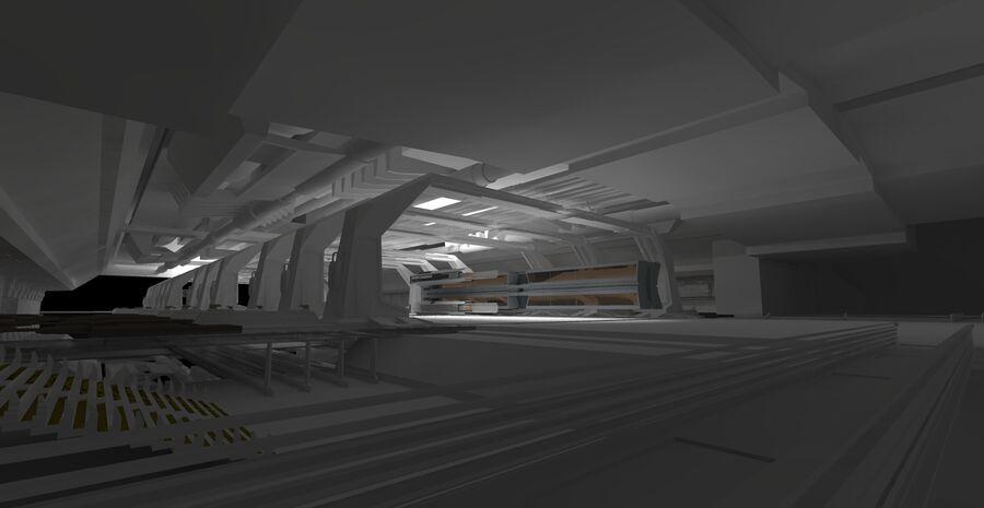 Hangar Bay royalty-free 3d model - Preview no. 6