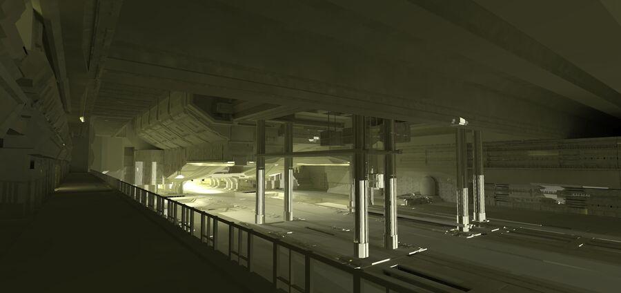 Hangar Bay royalty-free 3d model - Preview no. 2