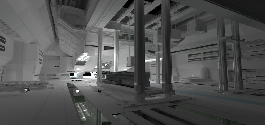 Hangar Bay royalty-free 3d model - Preview no. 3