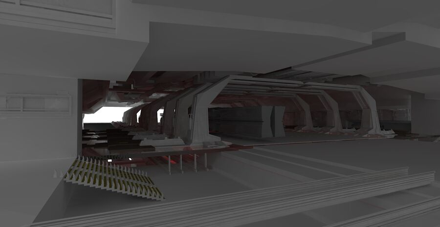 Hangar Bay royalty-free 3d model - Preview no. 5