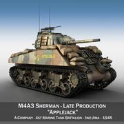 M4A3 Шерман - Эпплджек 3d model