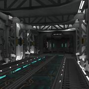 Interni di fantascienza 3d model