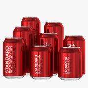 Standard Beverage Cans Collection 3d model