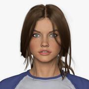 Женщина и одежда 3d model