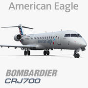 Bombardier CRJ700 American Eagle 3d model
