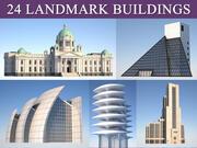 Landmärke och kommunala byggnadspaket 3d model