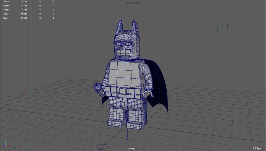 레고 배트맨 royalty-free 3d model - Preview no. 6
