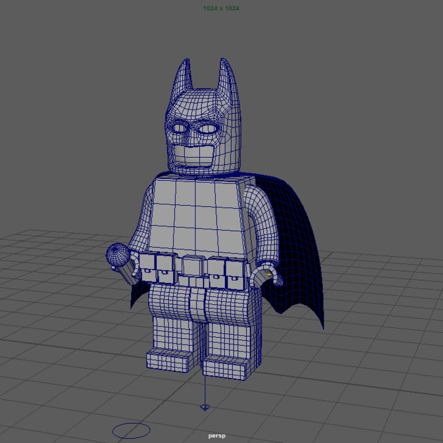 LEGO Batman royalty-free 3d model - Preview no. 6