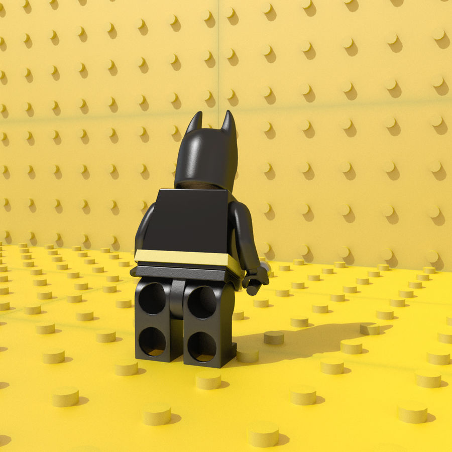 LEGO Batman royalty-free 3d model - Preview no. 5