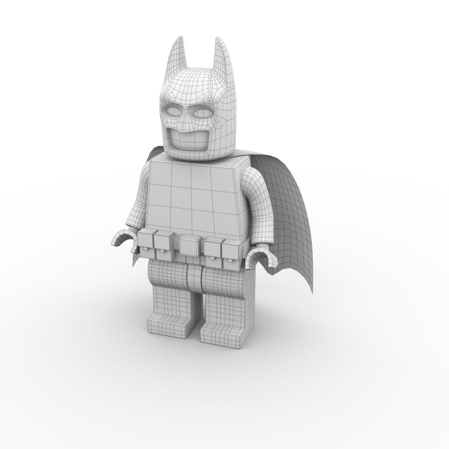 LEGO Batman royalty-free 3d model - Preview no. 8