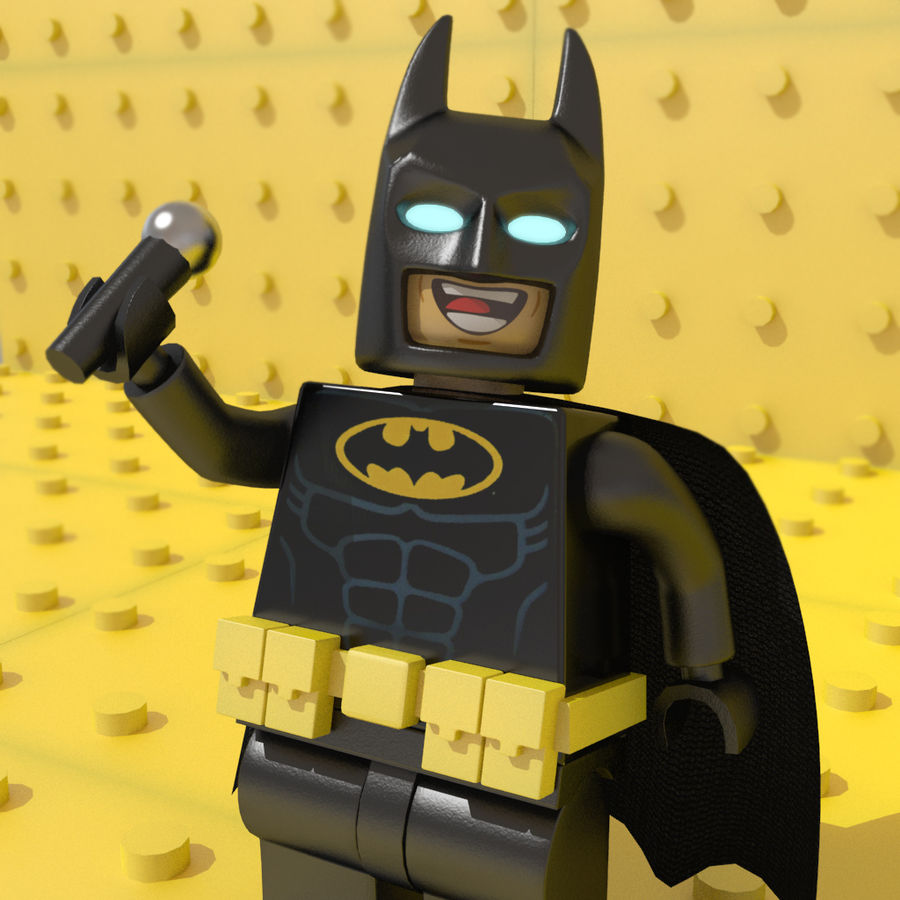 LEGO Batman royalty-free 3d model - Preview no. 2