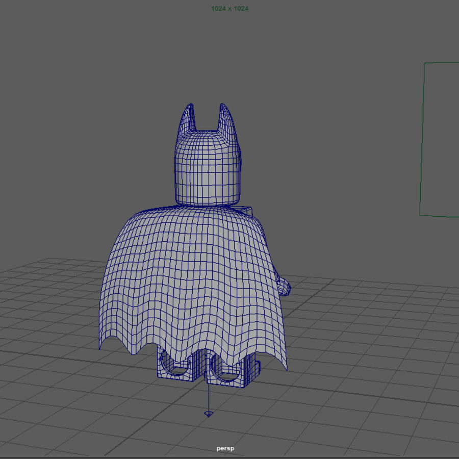 LEGO Batman royalty-free 3d model - Preview no. 7