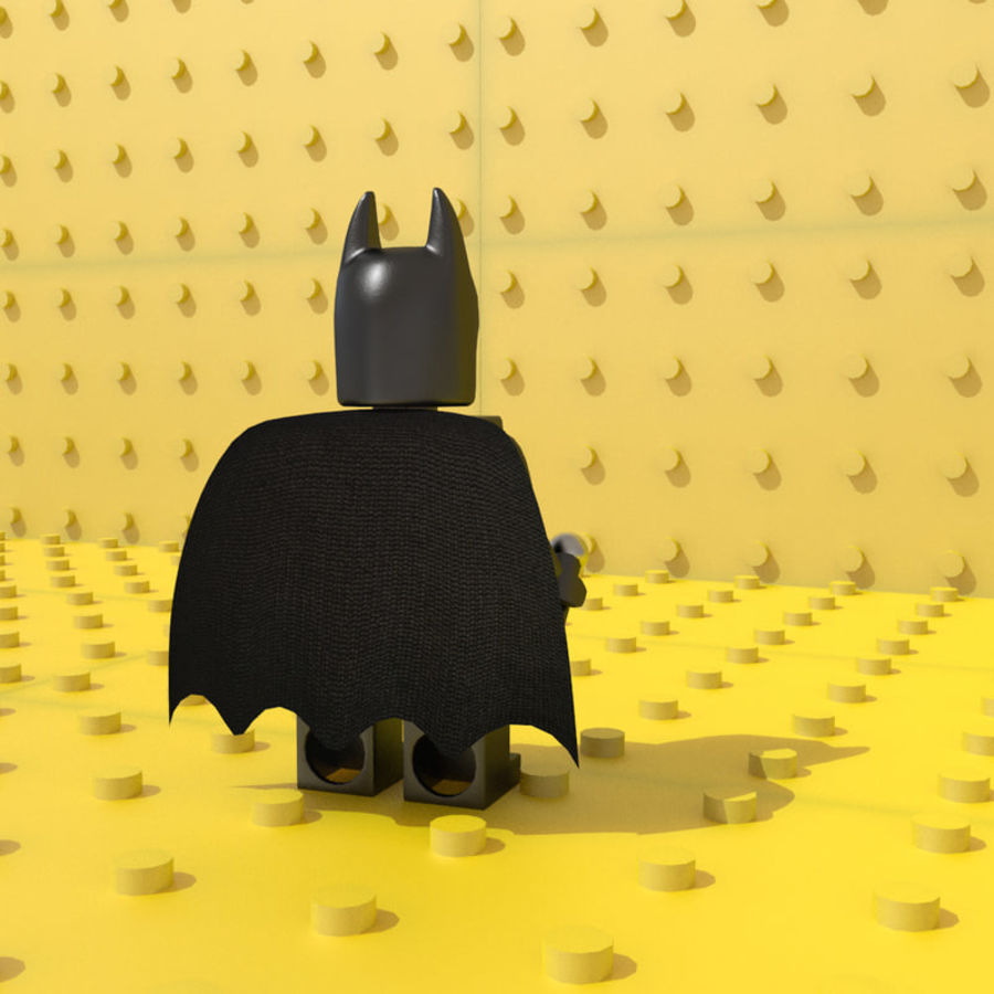 LEGO Batman royalty-free 3d model - Preview no. 4