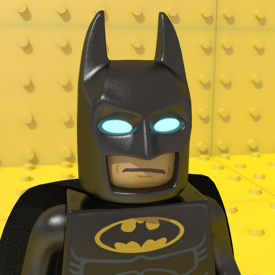 LEGO Batman royalty-free 3d model - Preview no. 3
