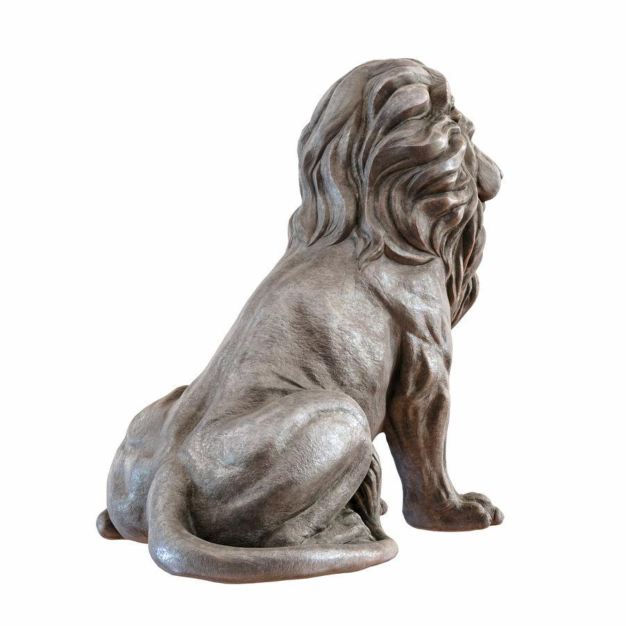 Lion Sculpture 3 royalty-free 3d model - Preview no. 3