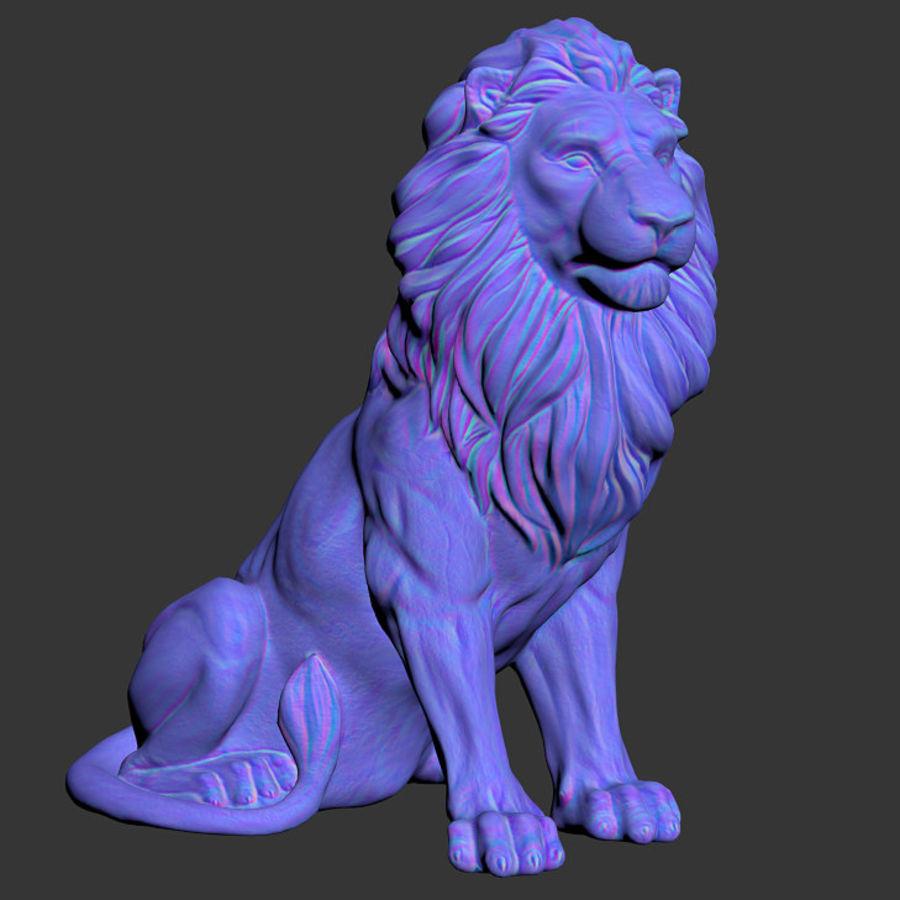 Lion Sculpture 3 royalty-free 3d model - Preview no. 9
