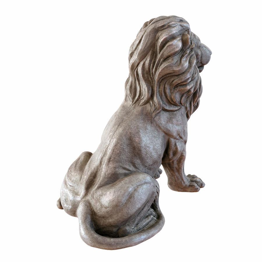 Lion Sculpture 3 royalty-free 3d model - Preview no. 5
